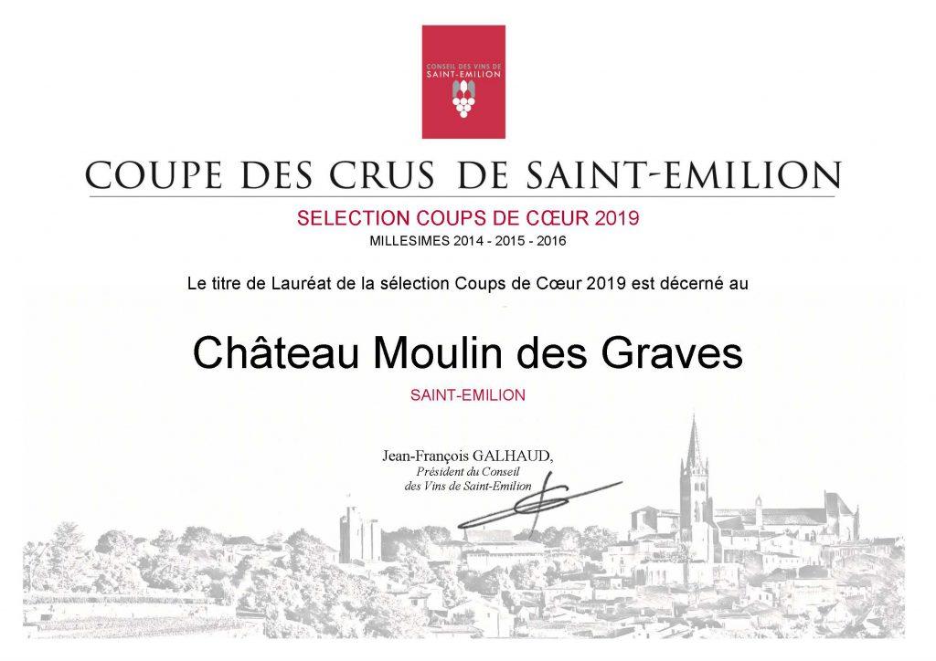diplome ch. Moulin des Graves